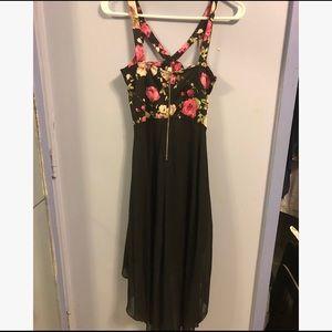 Floral/black dress